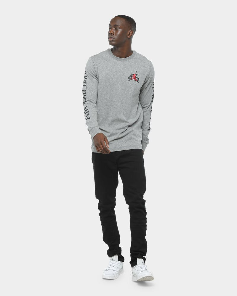 Jordan Classics LS Tee Carbon Heather/Red