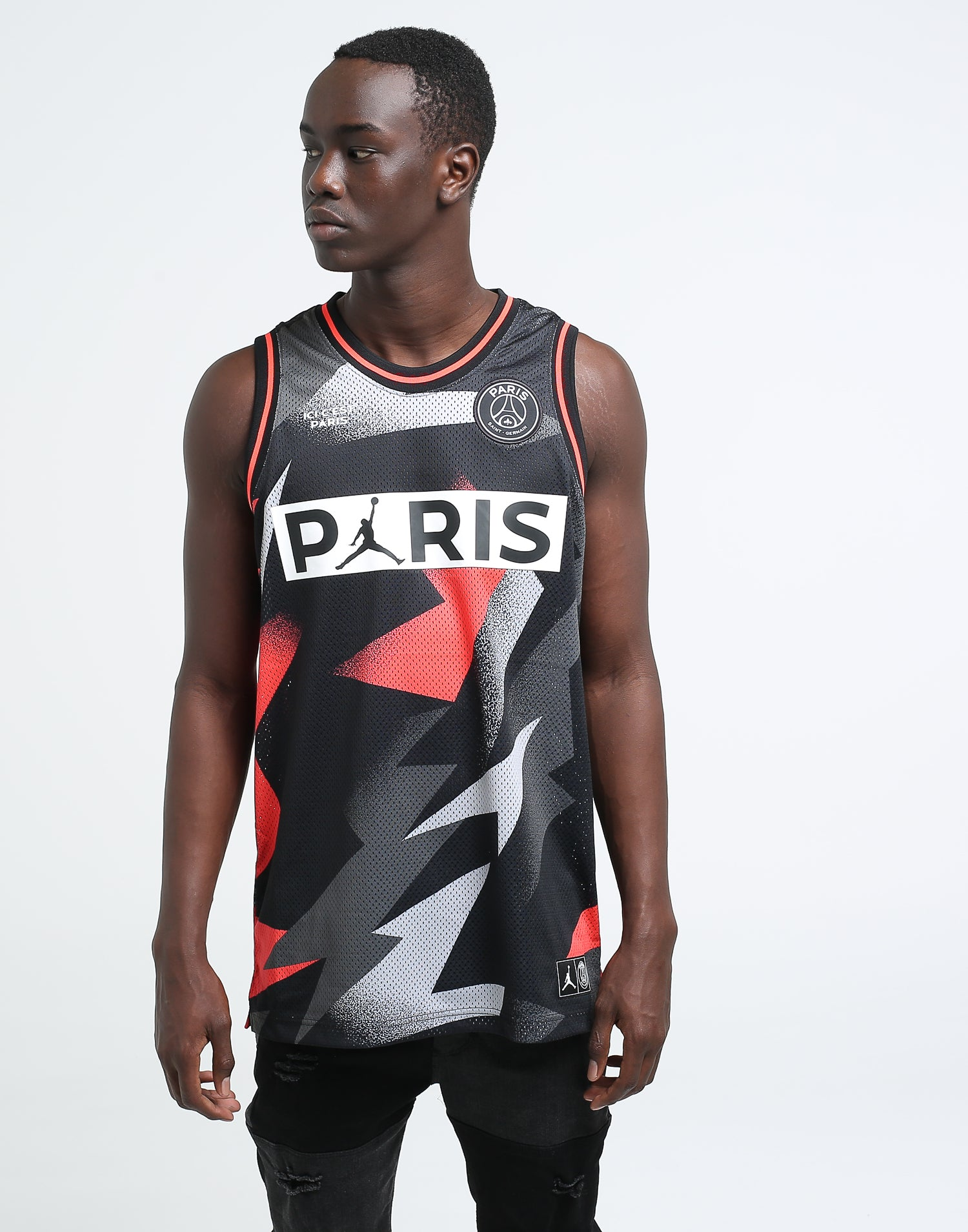 Jordan X Paris Saint Germain BCFC Mesh Jersey BlackInfrared