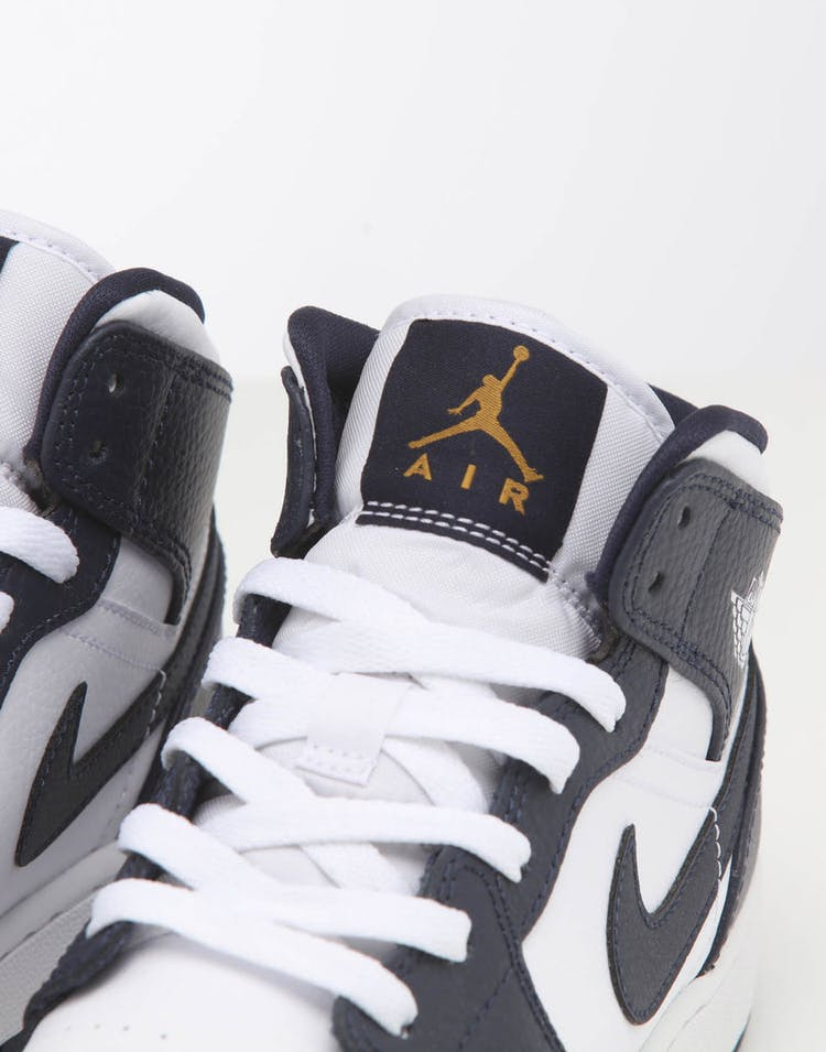 best service 5d799 54be5 Jordan Kids Air Jordan 1 Mid (GS) White/Gold/Obsidian