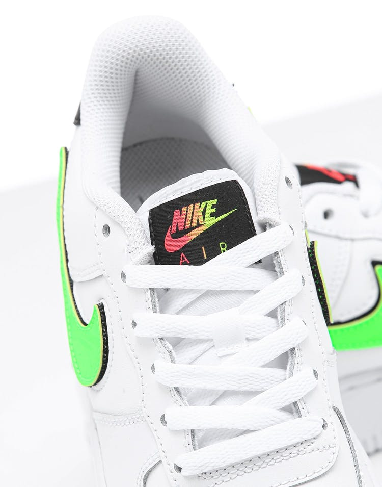Golpe fuerte fibra articulo  Nike Kids Air Force 1 LV8 3 (GS) White/Black/Green | Culture Kings