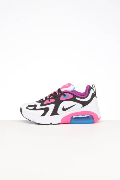 Nike Kids Air Max 200 (GS) White/Black/Pink