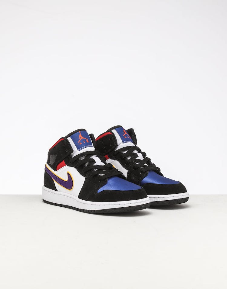best sneakers c0dca 021f8 Jordan Kids Air Jordan 1 Mid SE Black/White/Multi