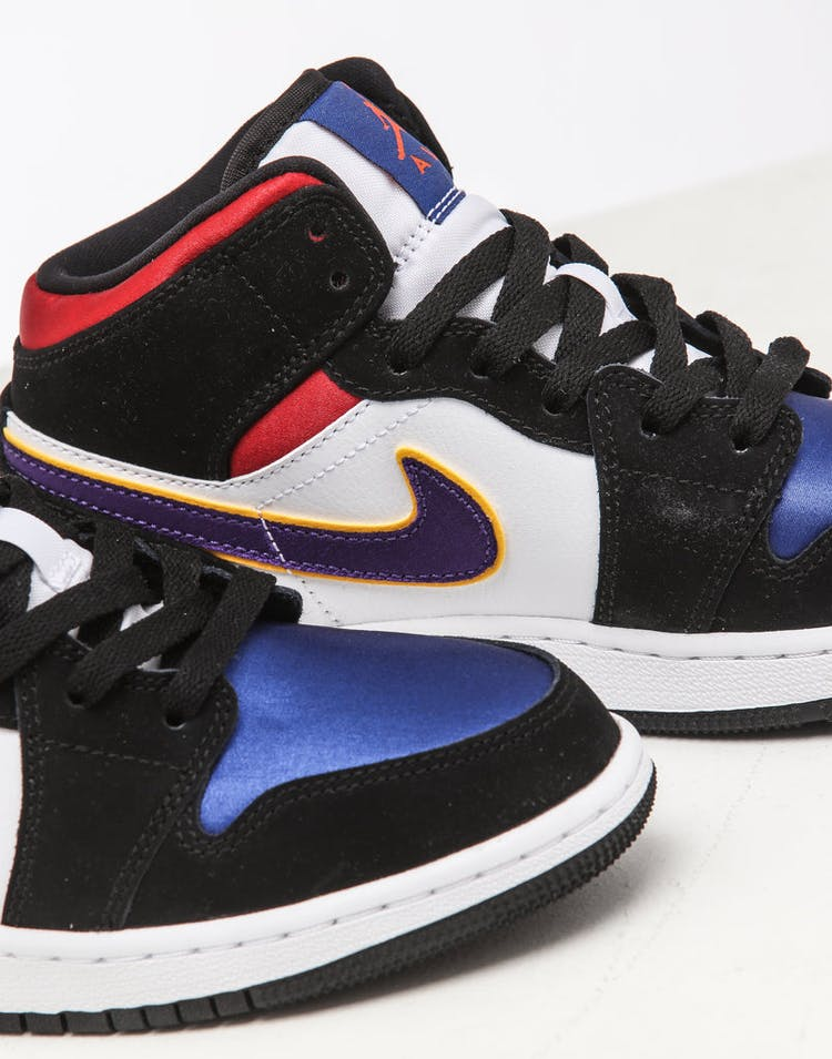 best sneakers a14aa dce8b Jordan Kids Air Jordan 1 Mid SE Black/White/Multi