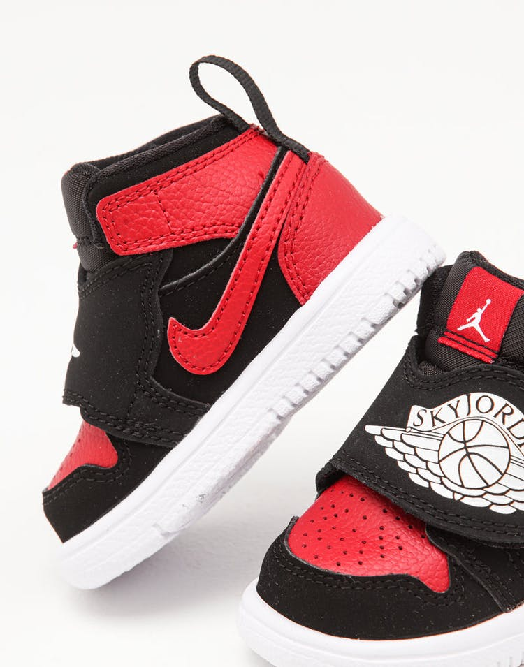 new product 35fd8 79b48 Jordan Toddler Sky Jordan 1 (TD) Black/White/Red