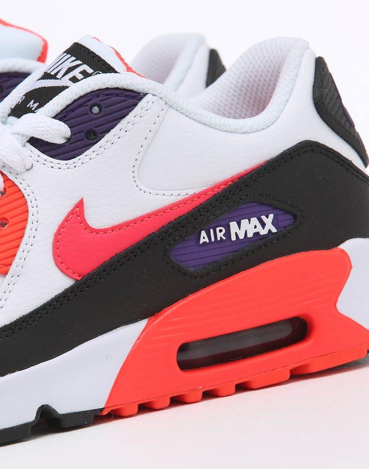 157cdb48 Nike Kids Air Max 90 Leather (GS) White/Multi-Coloured