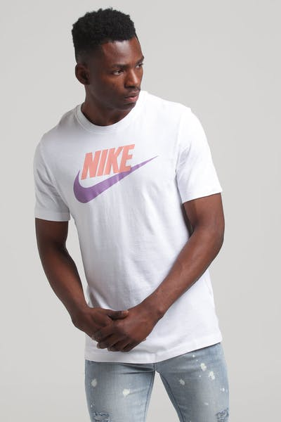 Nike Sports Wear SS Tee White/Pink/Violet