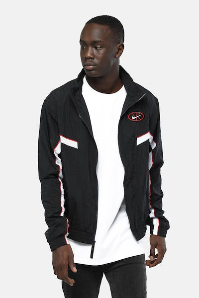 Nike Throwback Woven Basketball Jacket Black/Black/White