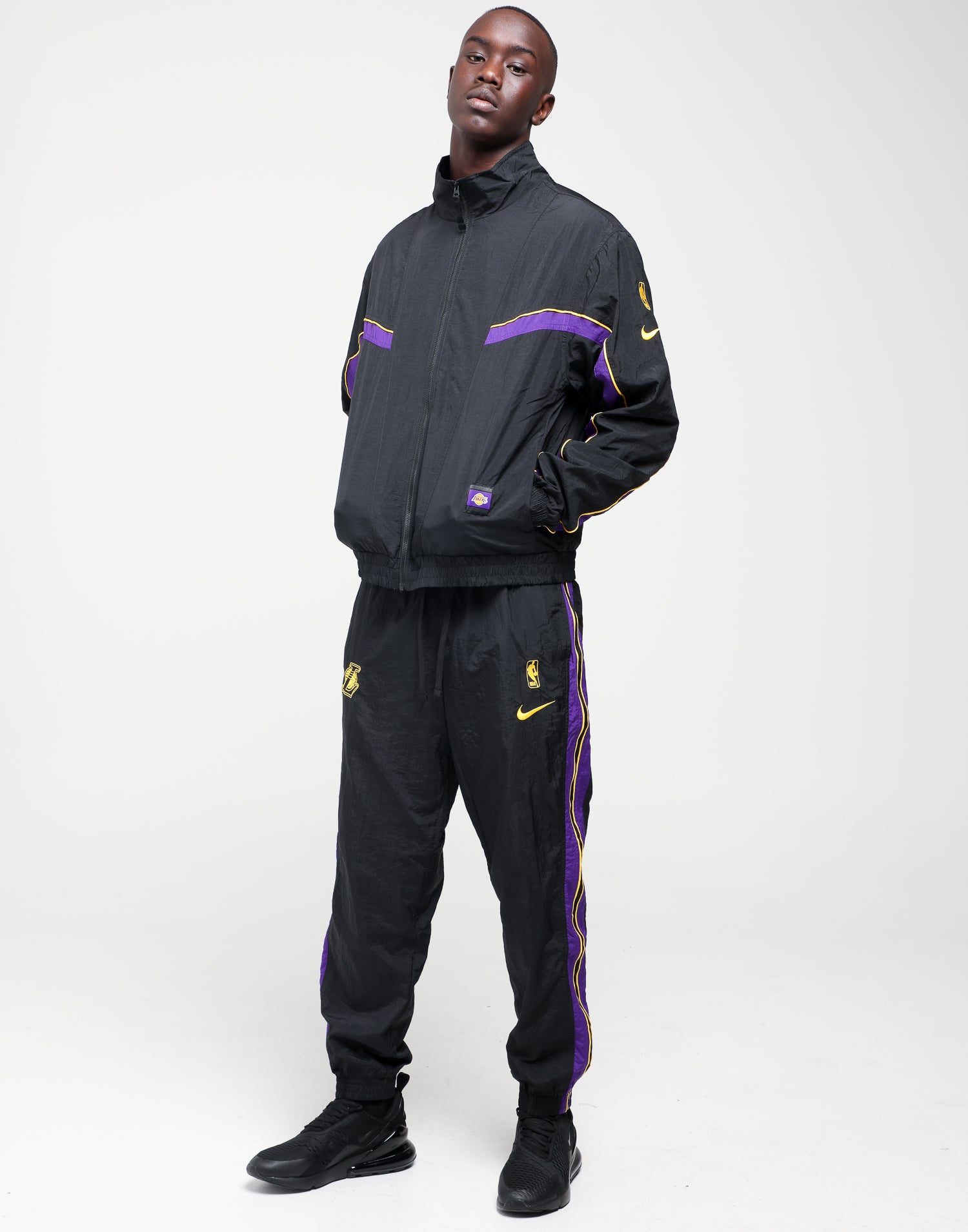 Nike Los Angeles Lakers NBA Tracksuit BlackBlackPurple
