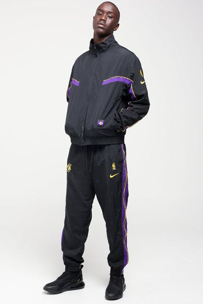 Nike Los Angeles Lakers NBA Tracksuit Black/Black/Purple