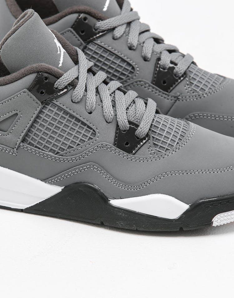 wholesale dealer 0e027 de3b5 Jordan PRESCHOOL Air Jordan 4 Retro (PS) Cool Grey/Chrome/Dark Charcoal