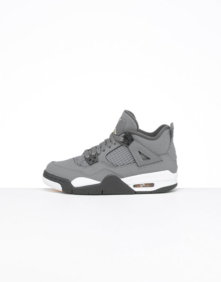 timeless design 3f62d cd4c1 Jordan Kids Air Jordan 4 Retro (GS) Cool Grey/Chrome/Dark Charcoal