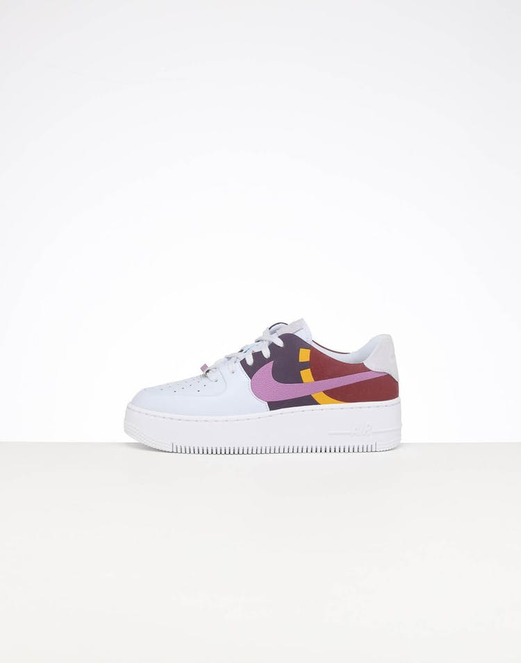 save off 593b3 041e5 NIKE WOMEN'S AIR FORCE 1 SAGE LOW LX GREY/DARK ORCHID
