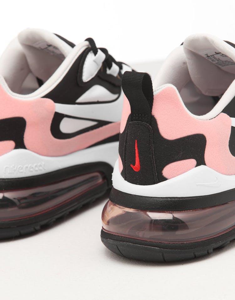 shoes for cheap new high meet Nike Women's Air Max 270 React Black/White/Coral