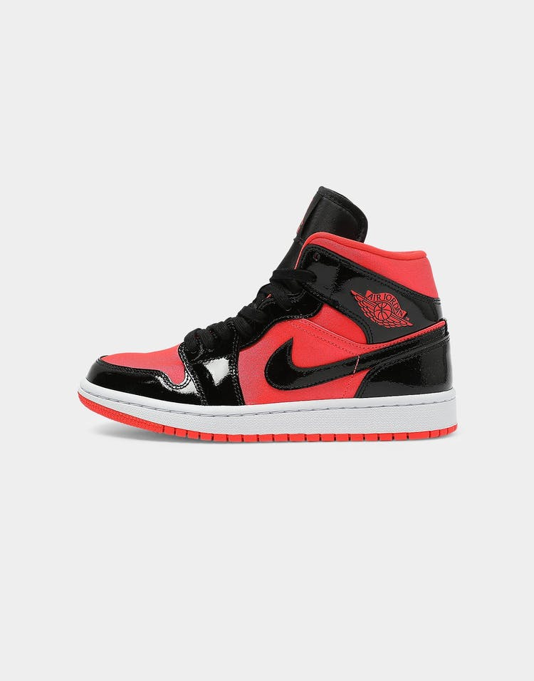 Jordan Women's Air Jordan 1 Mid Crimson/Black