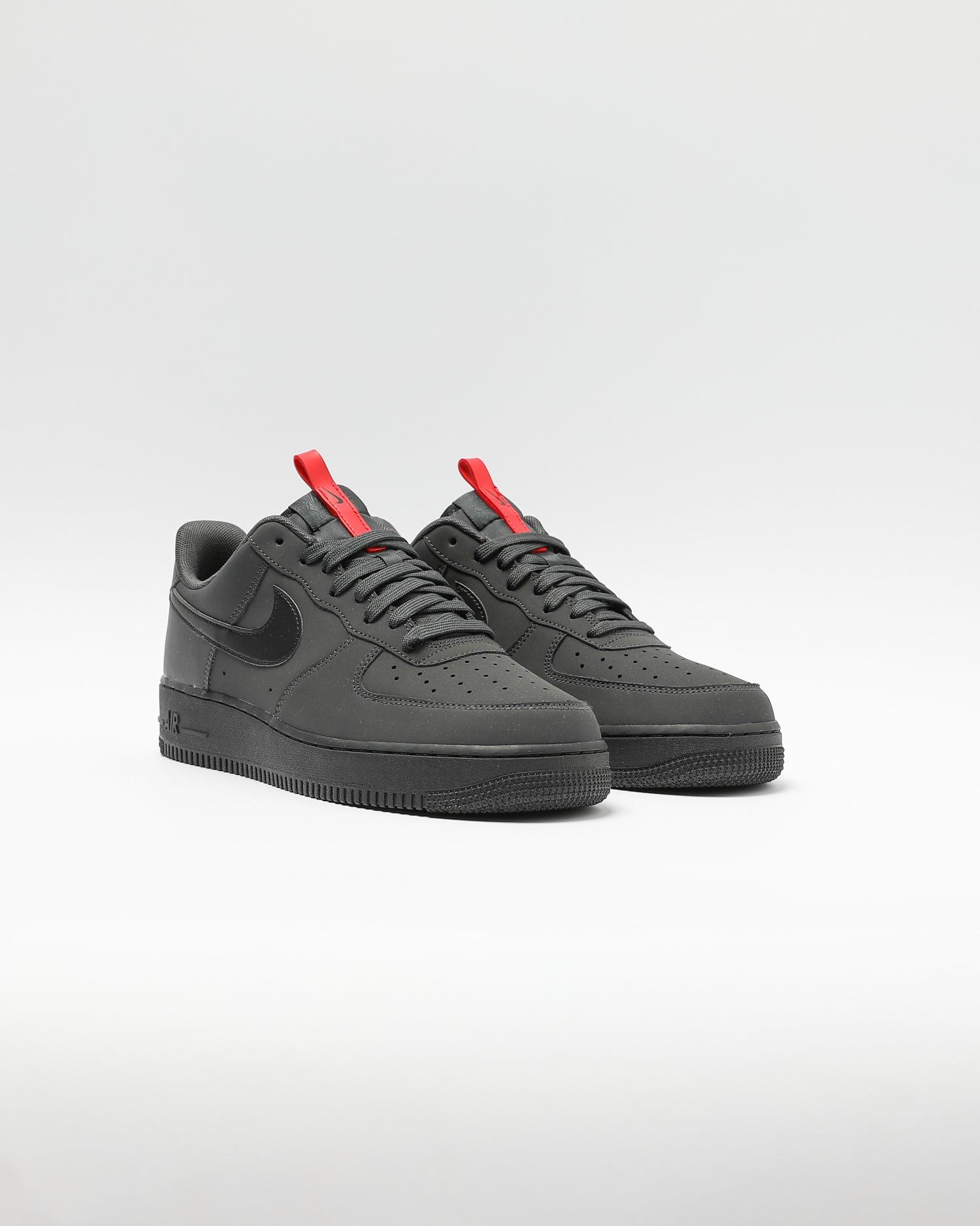 nike air force 1 black grey red