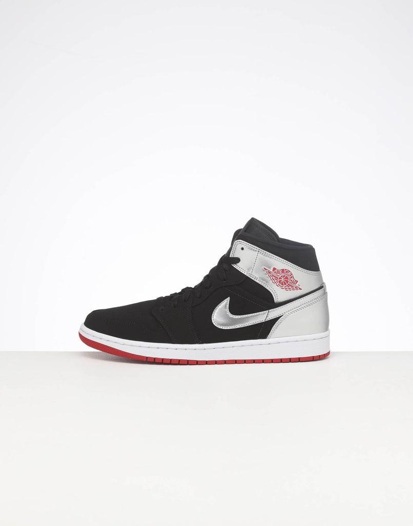 Jordan Air Jordan 1 Mid Black/Red/Silver