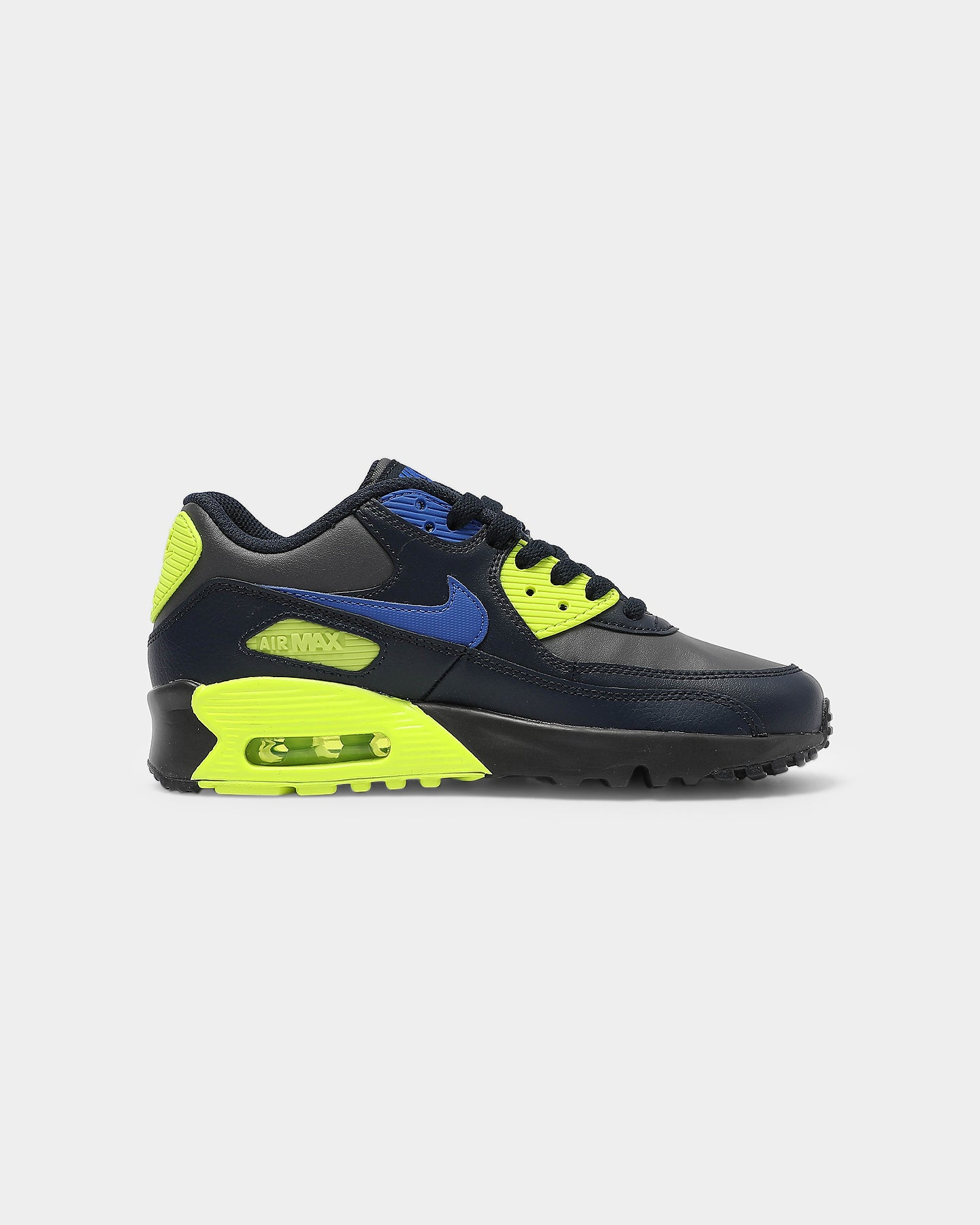 Nike Kids Air Max 90 Leather (GS) GreyRoyalYellow