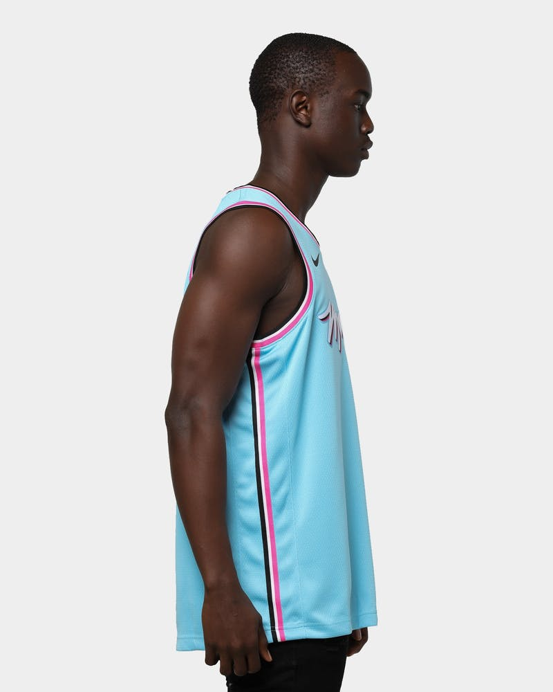 Nike Miami Heat Dwayne Wade #3 City Edition Swingman Jersey Blue Gale