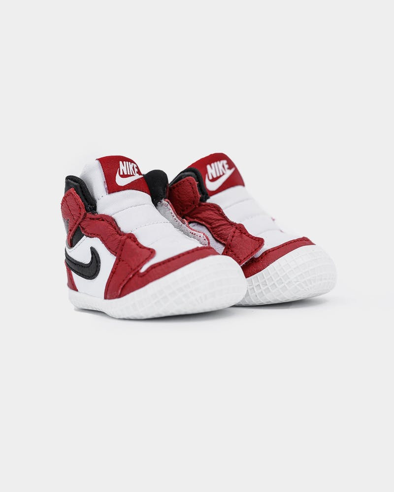 Jordan Toddler Jordan 1 Crib Bootie White/Black/Red