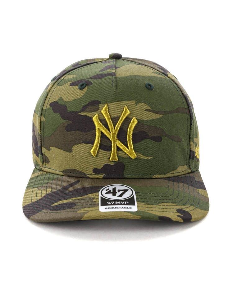 a5ded619e1fe6 47 Brand New York Yankees Camo MVP DP Strapback Camo – Culture Kings