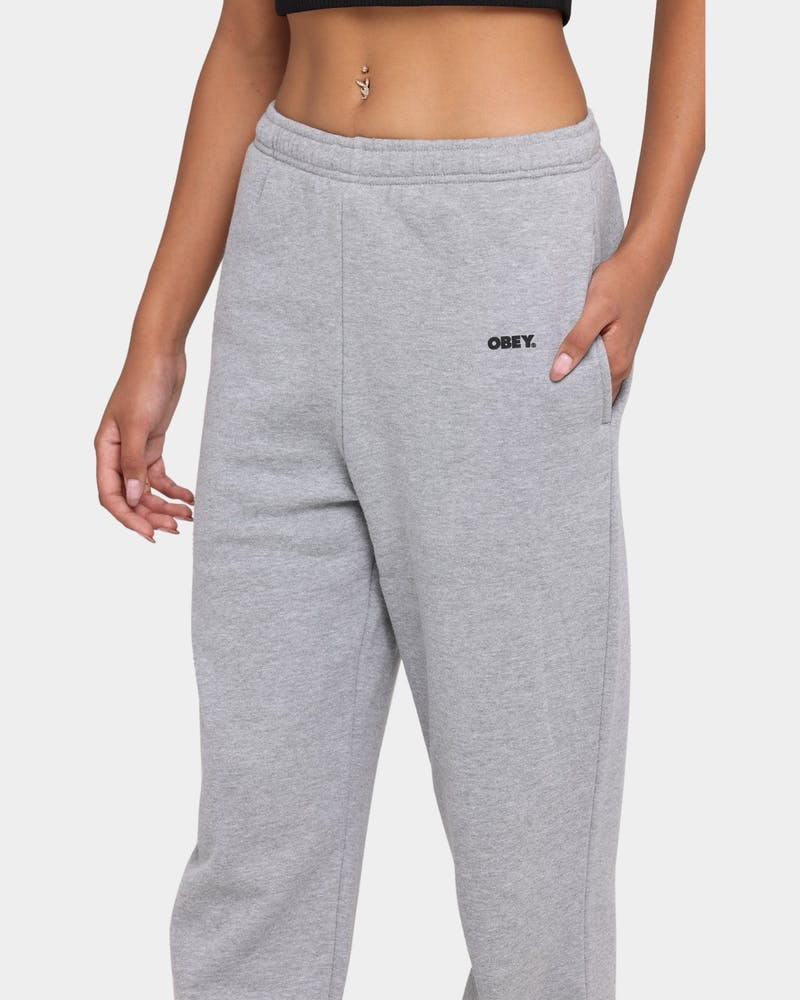 Obey Women's Bold Sweatpants Grey Heather