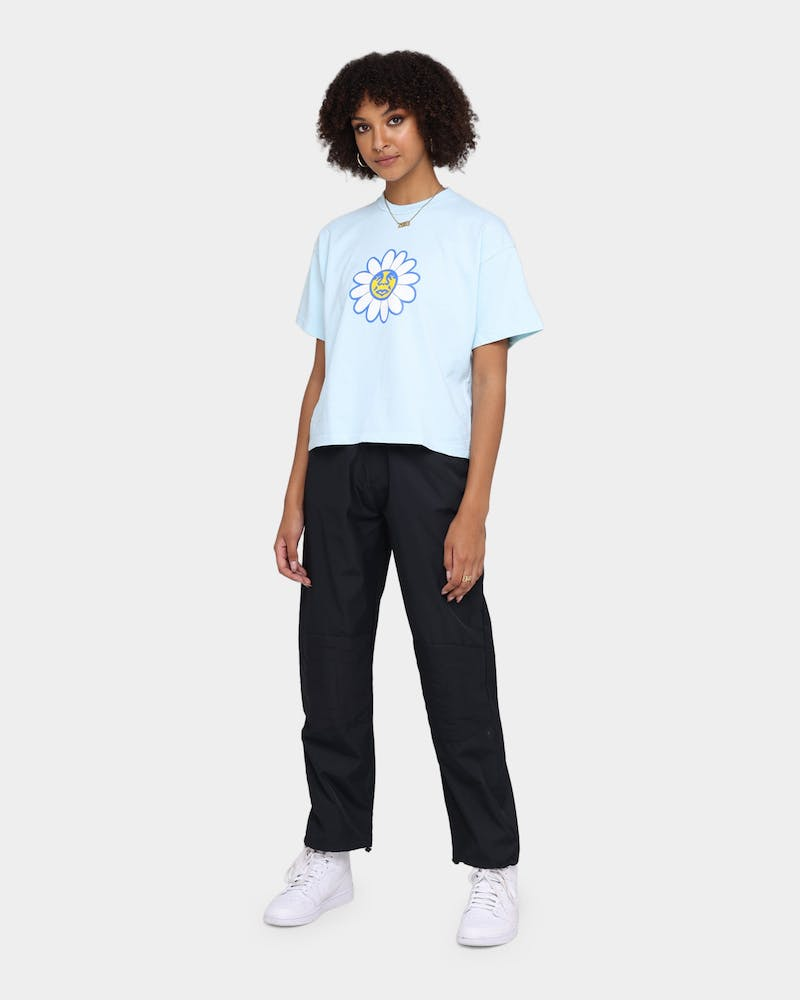 Obey Women's Daisy Crop T-Shirt Blue