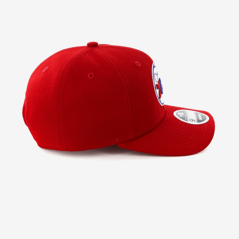 New Era Philadelphia 76ers Precurved Snapback Scarlet/Blue