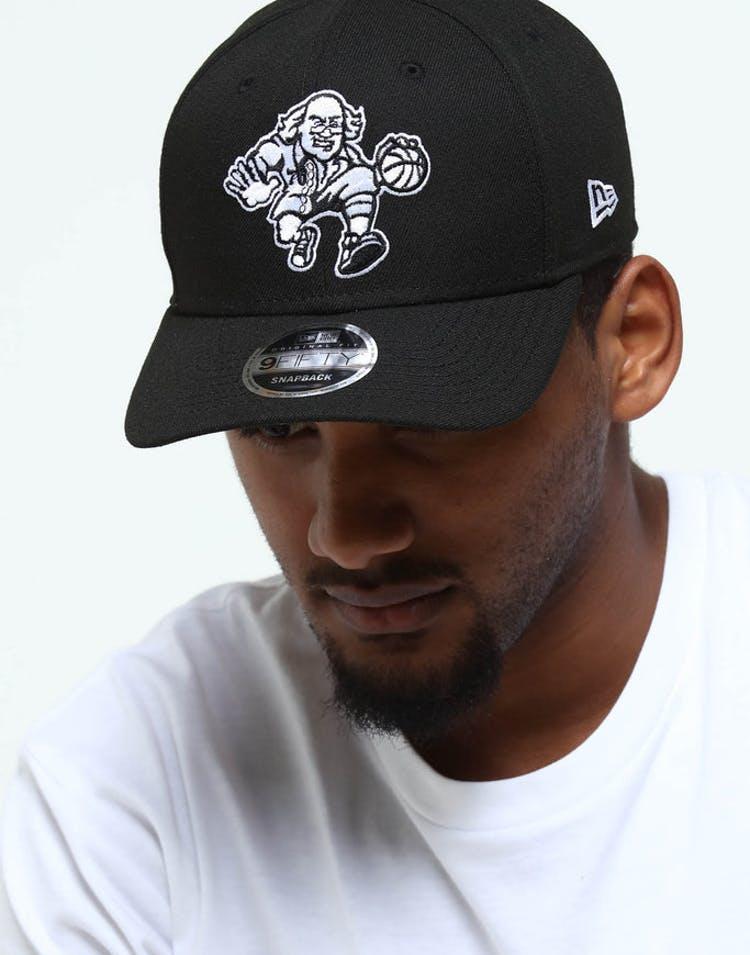 4d722077 New Era Philadelphia 76ers Precurved Snapback Black/White – Culture Kings