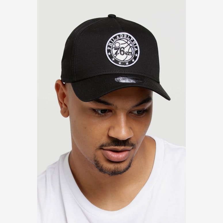 New Era Philadelphia 76ers 9FORTY A-Frame Snapback Black/White