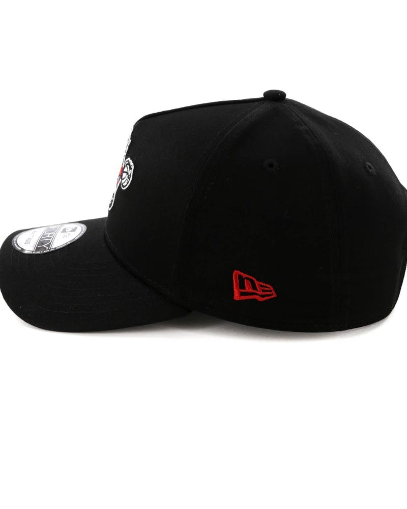 New Era Philadelphia 76ers 9FORTY A-Frame Snapback Black/Blue