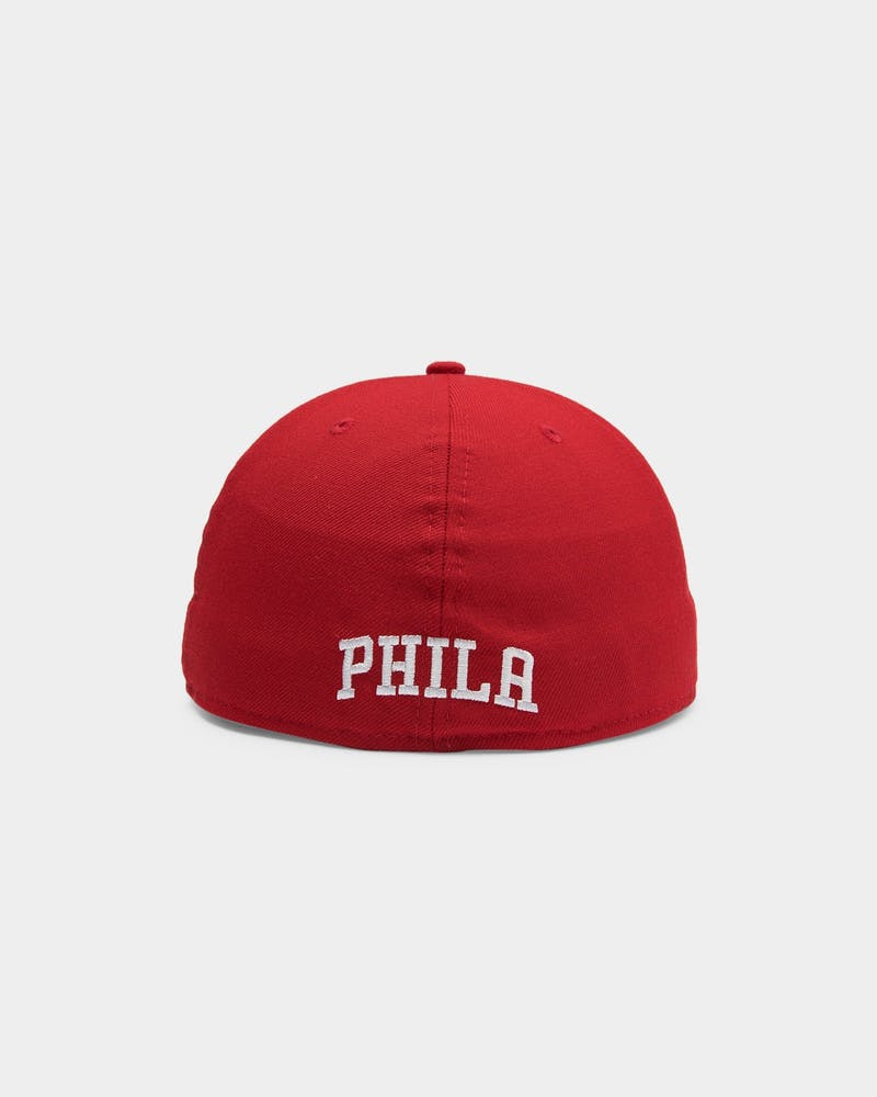 New Era Philadelphia 76ers 59FIFTY Fitted Scarlet/Black