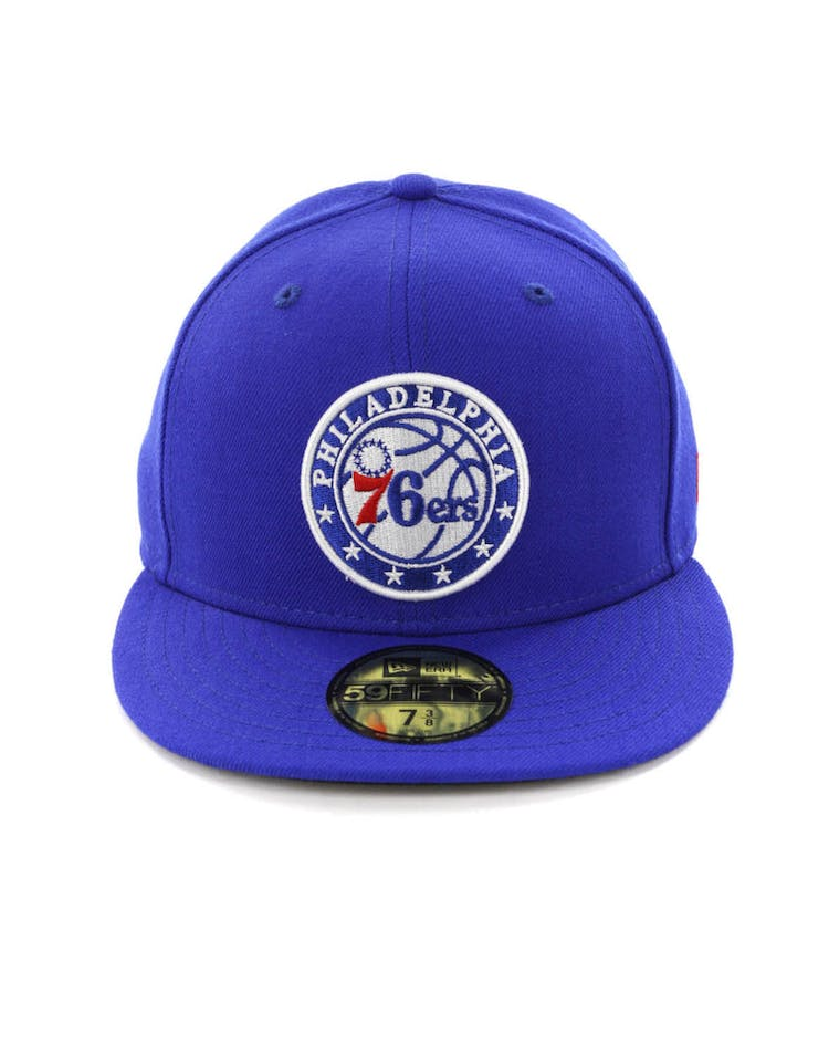 new concept 28748 fed32 New Era Philadelphia 76ers 59FIFTY Fitted Blue Black