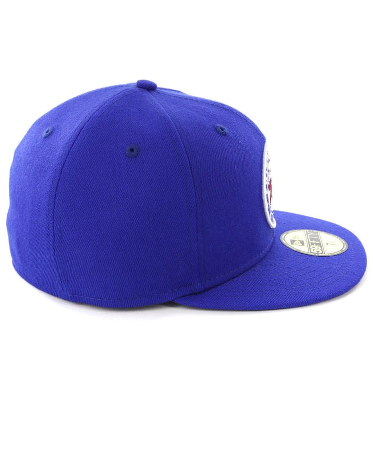new concept 13c96 bcbc0 New Era Philadelphia 76ers 59FIFTY Fitted Blue Black