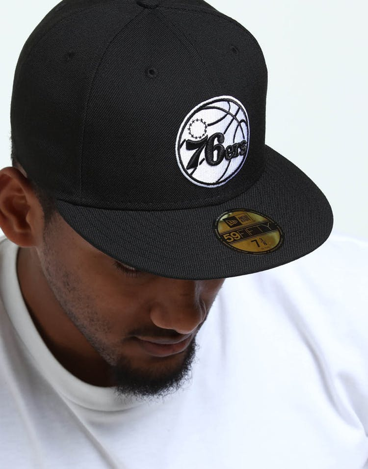 6f7a4316c8ce11 New Era Philadelphia 76ers 59FIFTY Fitted Black/White – Culture Kings