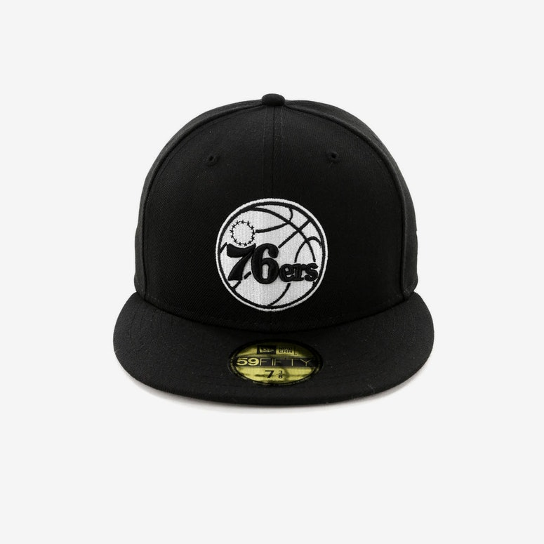 New Era Philadelphia 76ers 59FIFTY Fitted Black/White