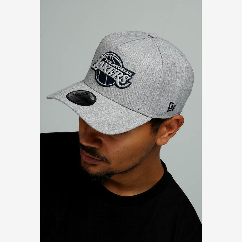 78daa3a4181 New Era Los Angeles Lakers 9FORTY A-Frame Snapback Grey Navy – Culture Kings