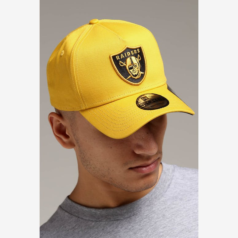 8d88fc46397 New Era Raiders 9FORTY A-Frame Snapback Mustard Black – Culture Kings