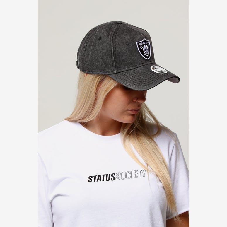 New Era Women s Raiders 9FORTY A-Frame Strapback Black Denim White – Culture  Kings 5c5c276a0a0b