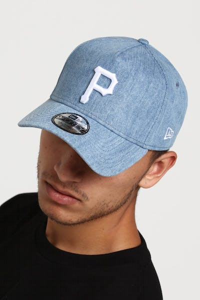 New Era Pittsburgh Pirates 9FORTY A-Frame Snapback Light Denim/White