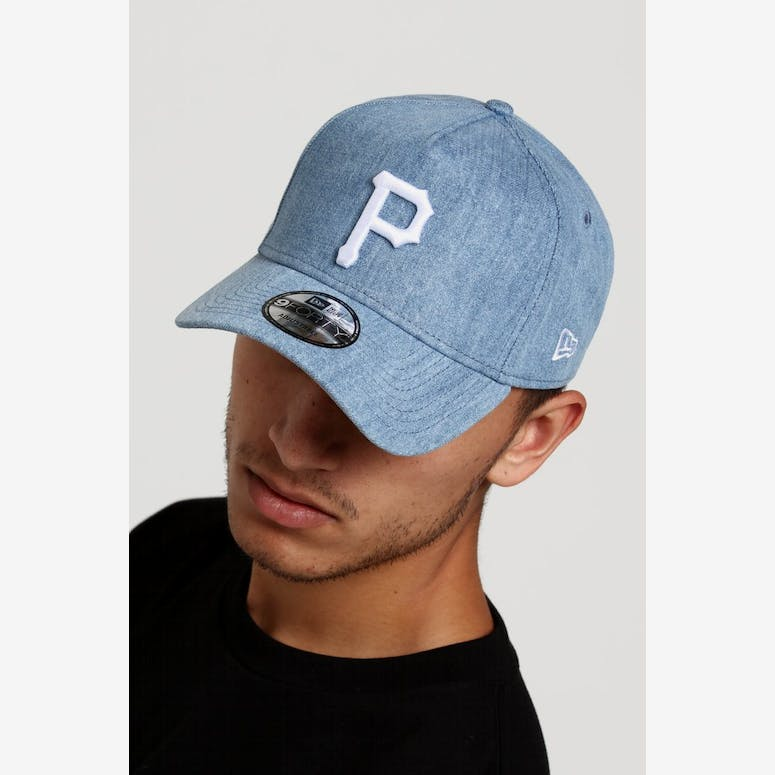 f76d16c245d New Era Pittsburgh Pirates 9FORTY A-Frame Snapback Light Denim White – Culture  Kings