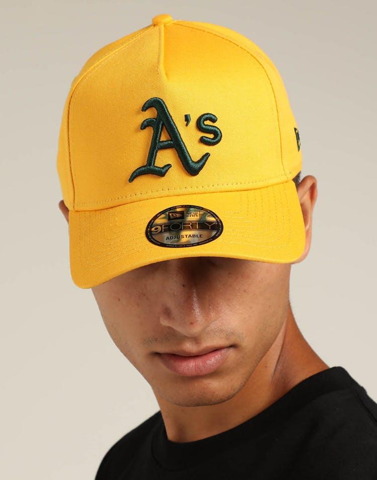 pretty nice ed1a8 00fee New Era Oakland Athletics 9FORTY A-Frame Snapback Gold Dark Green – Asblrcr