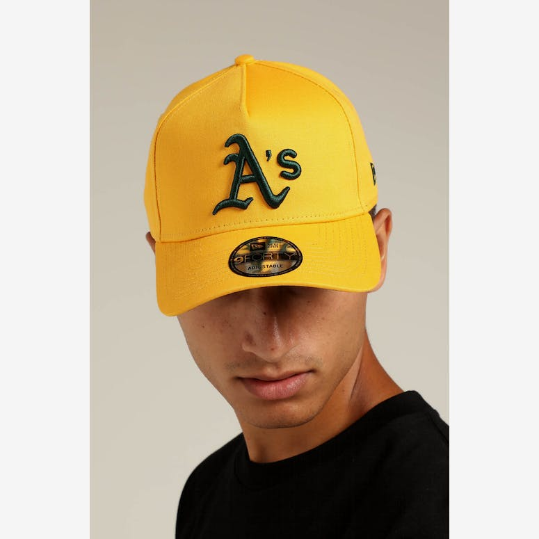 New Era Oakland Athletics 9FORTY A-Frame Snapback Gold Dark Green – Culture  Kings 98f919a41d7a