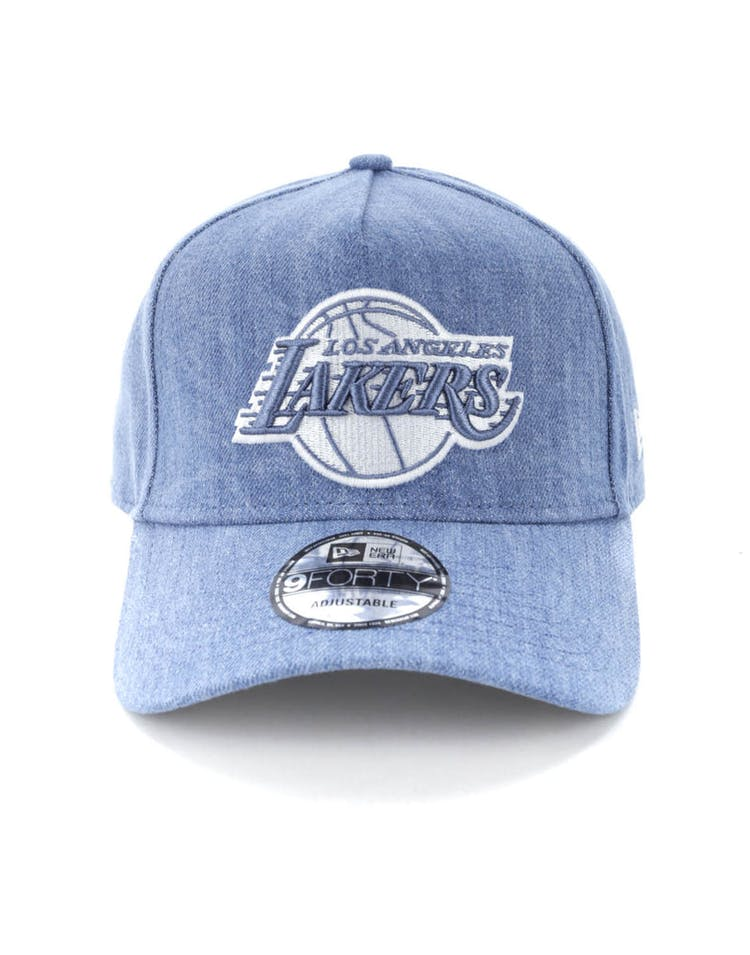 d7a6d22c0 New Era Los Angeles Lakers 9FORTY A-Frame Snapback Light Denim/White