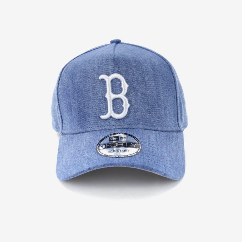 aba3021a3ba New Era Boston Red Sox 9FORTY A-Frame Snapback Light Denim White ...