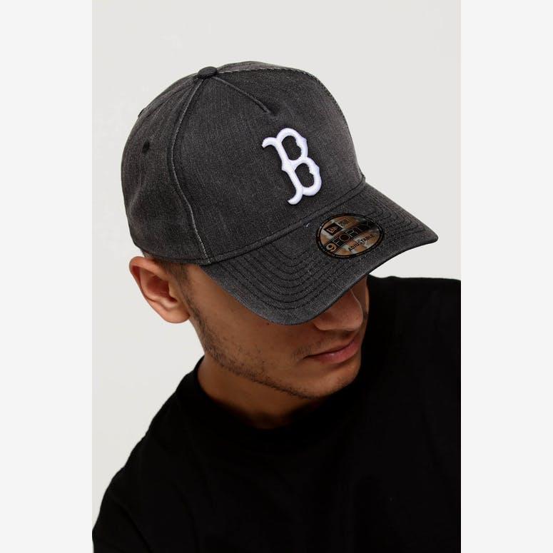 00eb3c48e60 New Era Boston Red Sox 9FORTY A-Frame Snapback Black Denim White – Culture  Kings