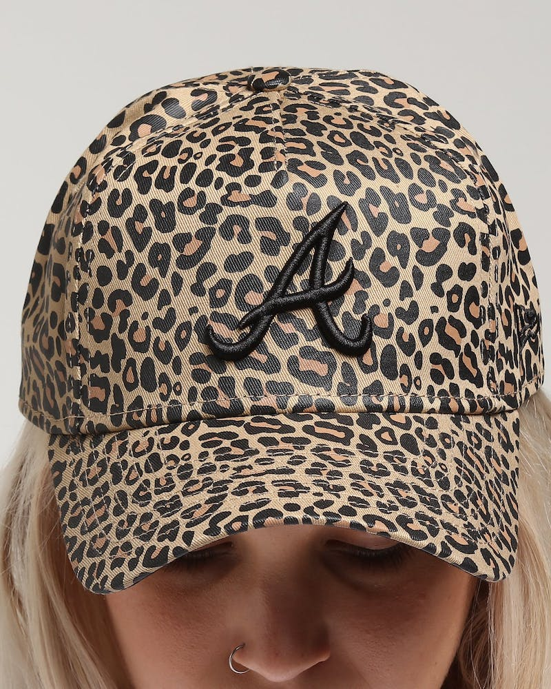 New Era Women's Atlanta Braves 9FORTY A-Frame Strapback Leopard/Black