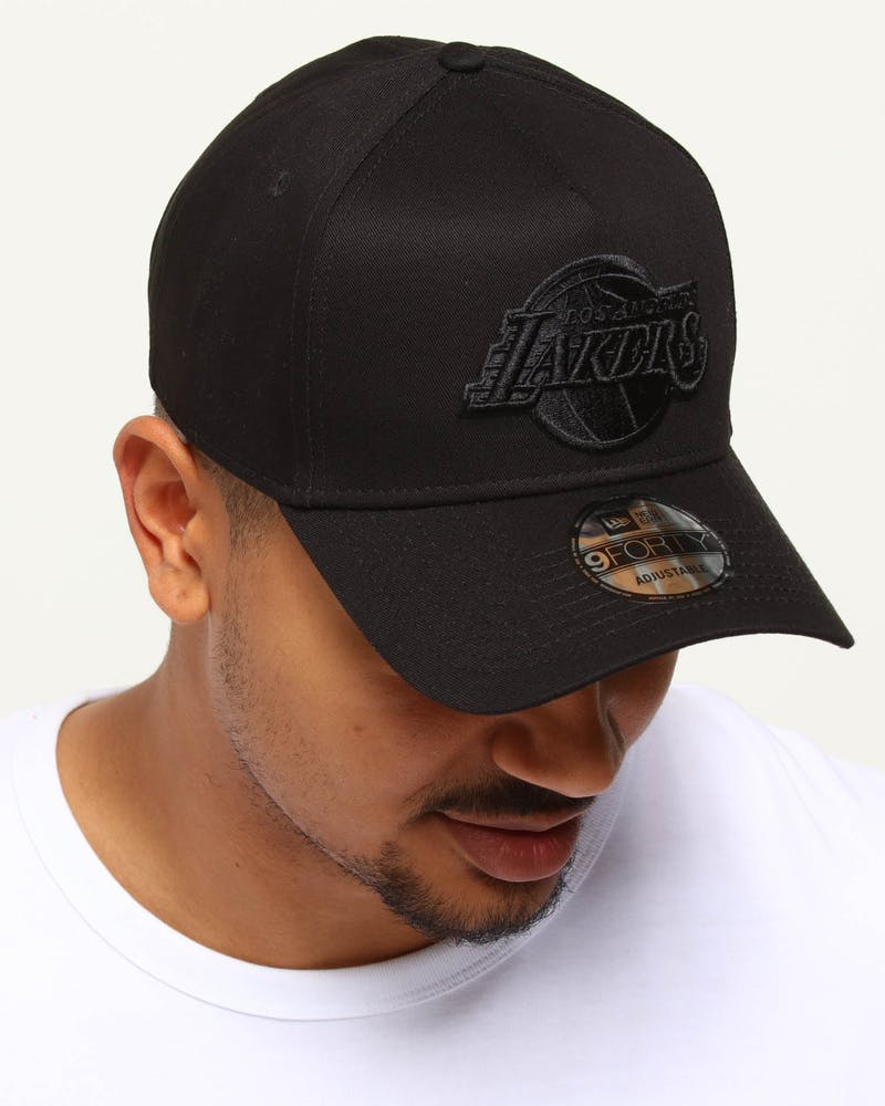 New Era Los Angeles Lakers 9FORTY A-Frame Snapback Black/Leopard