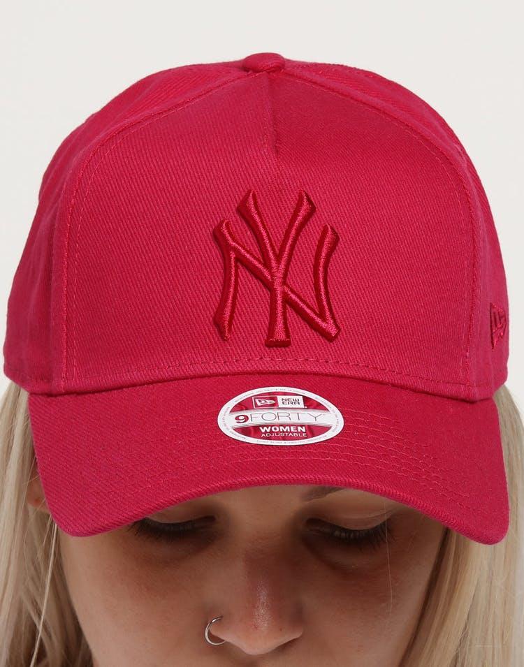 b9927eb43dc32 New Era Women's New York Yankees 9FORTY A-Frame Strapback Ruby ...