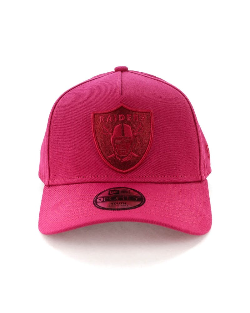 New Era Youth Raiders 9FORTY A-Frame Strapback Ruby