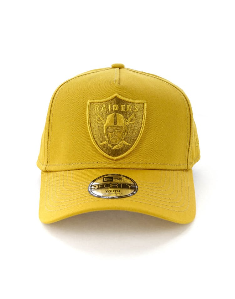 new products b8cf8 7c70d New Era Youth Raiders 9FORTY A-Frame Strapback Gold – Culture Kings